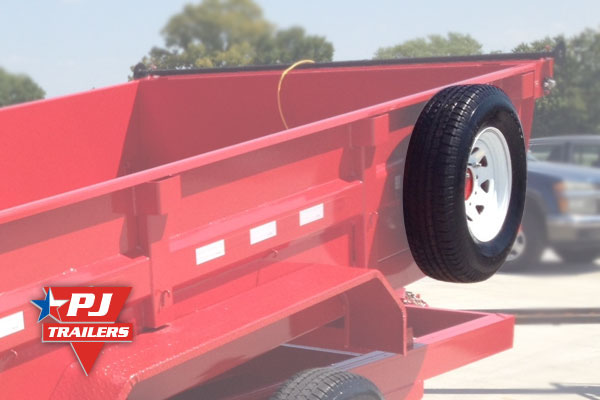 Pj Trailers Dump Spare Tire And Mount