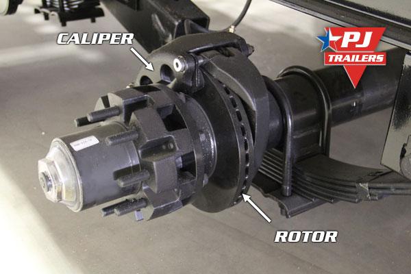Trailer Axles Brakes System : Pj trailers hydraulic disc trailer brakes