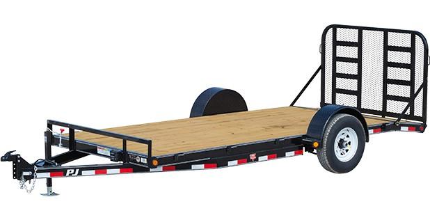 Single Axle Rv : Pj trailers single axle hd carhauler c