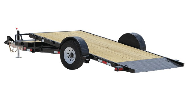 Single Axle Trailer Plans : Pj trailers single axle hd tilt t